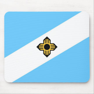 Madison city flag  Wisconsin state America country Mouse Pad