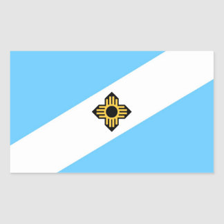 Madison city flag  Wisconsin state America country Rectangular Sticker