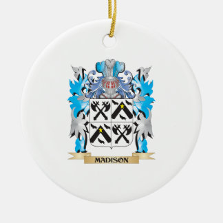 Madison Coat of Arms - Family Crest Christmas Ornament