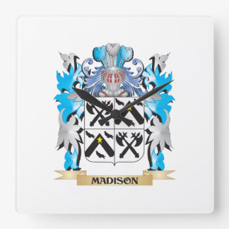 Madison Coat of Arms - Family Crest Wallclock