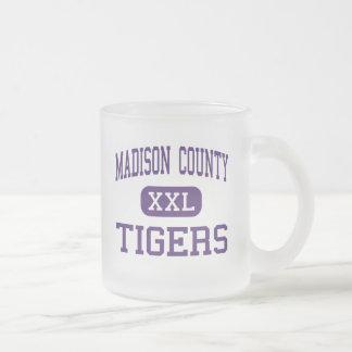 Madison County - Tigers - High - Gurley Alabama 10 Oz Frosted Glass Coffee Mug