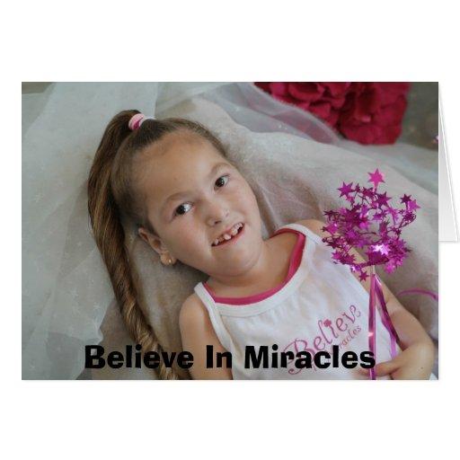 Madison cree, cree en milagros tarjeta de felicitación