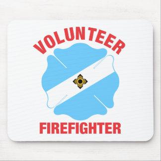 Madison, cruz del bombero del voluntario de la alfombrilla de ratón