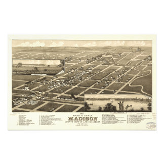 Madison el condado de Lake Dakota del Sur (1883) Papeleria Personalizada