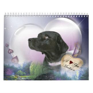 Madison el Labrador negro Calendarios De Pared