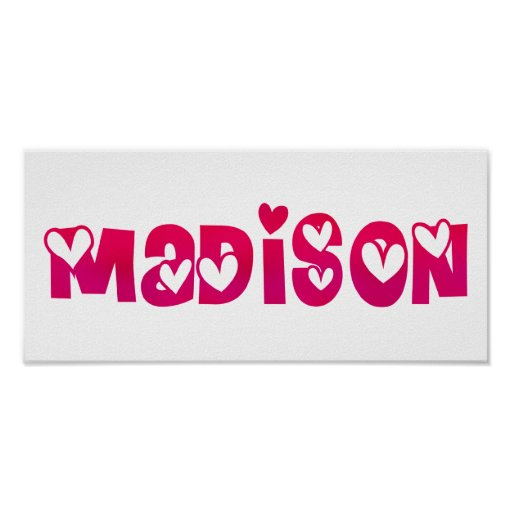 Madison en corazones posters