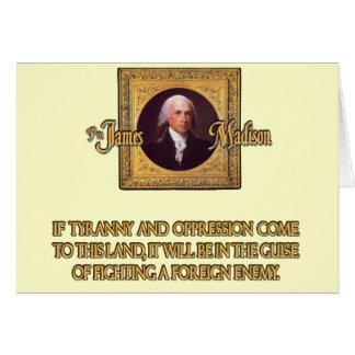 Madison en enemigos extranjeros tarjeta de felicitación