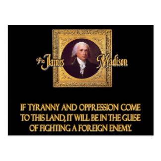 Madison en enemigos extranjeros postal