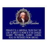 Madison en los peligros reales y fingidos tarjeta postal