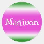 Madison Etiquetas Redondas