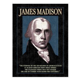 Madison - iglesia y estado tarjeta postal