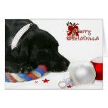Madison la tarjeta de Navidad negra de Labrador