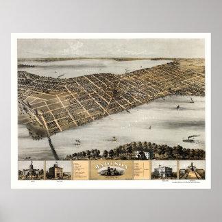 Madison, mapa panorámico de los WI - 1867 Posters