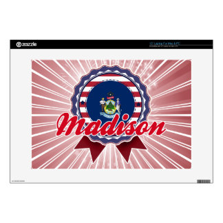 """Madison, ME Decal For 15"""" Laptop"""