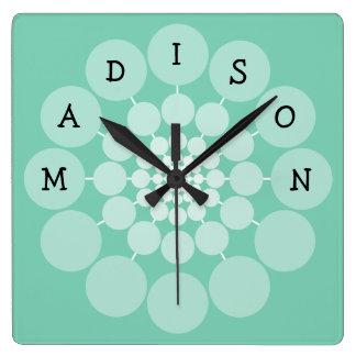 MADISON Modern Fun Name Clock