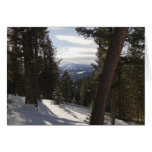 Madison Mountains in Winter in Montana Card