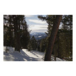 Madison Mountains in Winter in Montana Poster