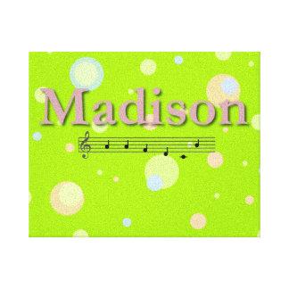 Madison Musical Name Bedroom Nursery Room Canvas Print