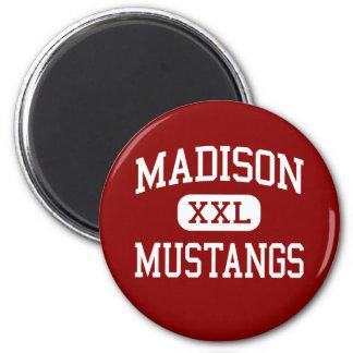 Madison - mustangos - escuela secundaria - Tampa l Imán De Frigorífico