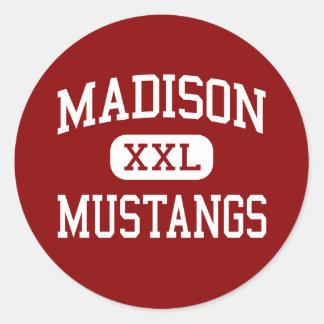 Madison - mustangos - escuela secundaria - Tampa l Pegatina