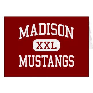 Madison - mustangos - escuela secundaria - Tampa l Tarjetón