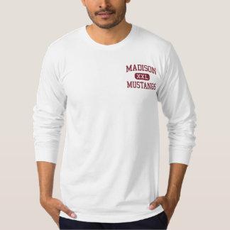 Madison - mustangos - escuela secundaria - Tampa Playera