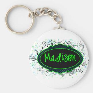 Madison Nameplate Keychain