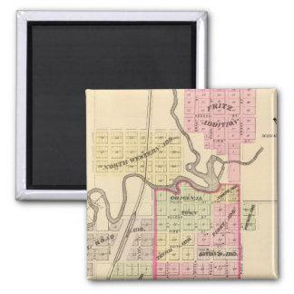 Madison, Nebraska 2 Inch Square Magnet