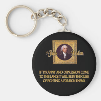 Madison on Foreign Enemies Basic Round Button Keychain