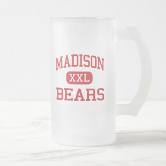 Madison - osos - joven - Madison Indiana Taza Cristal Mate