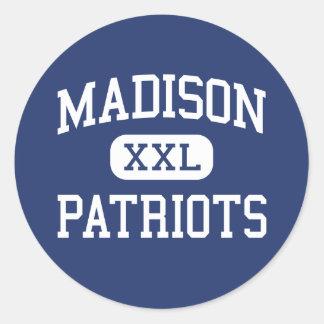 Madison - Patriots - High - Marshall Classic Round Sticker