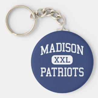Madison Patriots Middle Marshall Basic Round Button Keychain