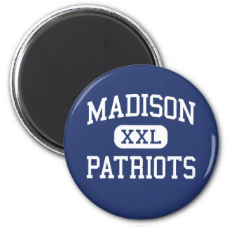 Madison Patriots Middle Marshall 2 Inch Round Magnet