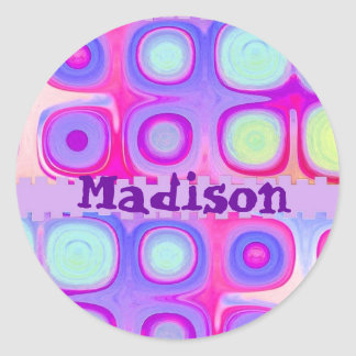 MADISON - pegatina festivo conocido de encargo de