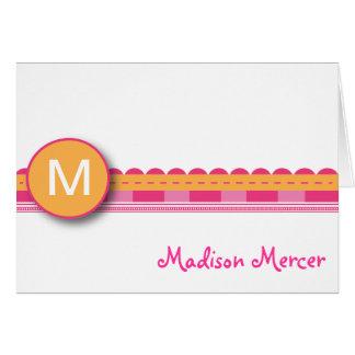 Madison - Pink and Orange Card