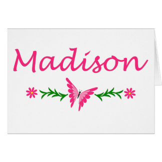 Madison (Pink Butterfly) Card