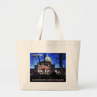 Madison Protest to Kill the Bill Large Tote Bag