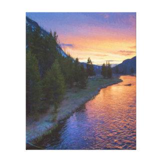 Madison River Sunset Canvas Print