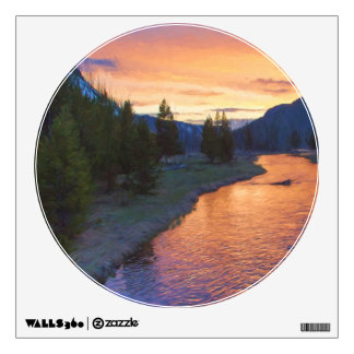 Madison River Sunset Wall Decal
