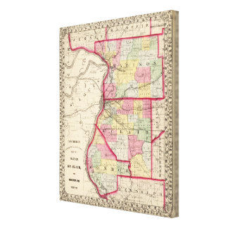 Madison, St Clair, Monroe counties Canvas Print