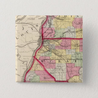 Madison, St Clair, Monroe counties Pinback Button
