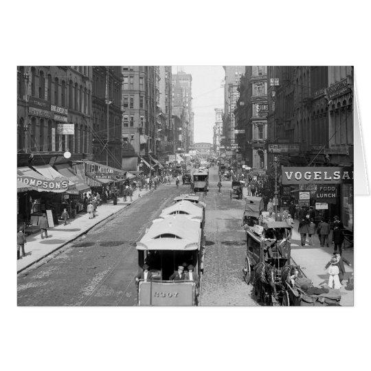 Madison Street, Chicago, 1900 Card
