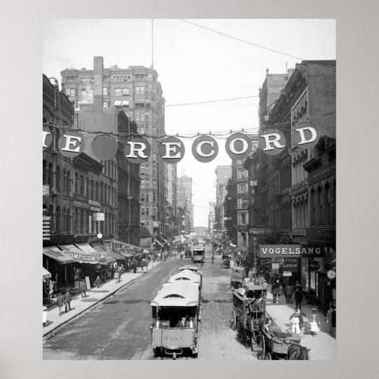 Madison Street, Chicago, 1900 Poster