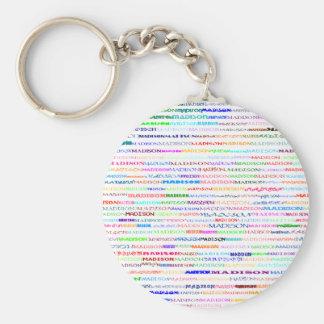 Madison Text Design II Keychain