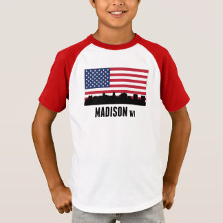 Madison WI American Flag T-Shirt