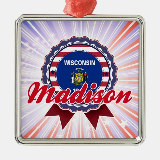 Madison, WI Christmas Tree Ornament