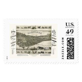 Madison, WI Panoramic Map - 1885 Postage