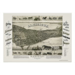 Madison, WI Panoramic Map - 1885 Posters
