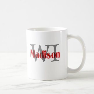 madison wi red coffee mug