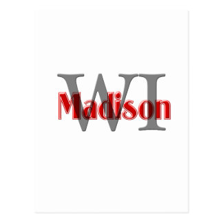 madison wi red postcards